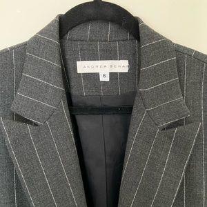Andrea Behar pin stripe blazer